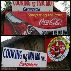 Listed here are ten of the funniest Pinoy business names that exist around the metro and Philippine provinces. Memes Pinoy, Pinoy Quotes, Filipino Memes, Coca Cola, Cooking Puns, Cooking Measurement Conversions, Filipino Culture, Tagalog, Cooking Salmon