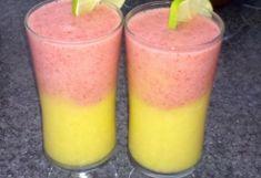Mango Banaan Aardbei Smoothie