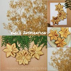 Gold Ribbon Flowers, Handmade Flowers, Flower Supplies, Craft Flowers, Decorative Flowers, Wedding Flowers, Ribbon Crafts, Applique Flowers, Party Supplies, Gift Wrapping Ideas, Scrapbook Crafts, Baby Shower Flowers, Set of Flowers #flowers #crafts #goldinspiration #goldflowers #ribbonflowers #decorativeflowers #weddingflowers #flowersupplies #fabricflowers #scrapbooksupplies #appliqueflowers #partyflowers #craftsupplies #newyearcrafts #wrappingflowers #gifttags #etsyflowers #etsycrafts Simple Flowers, Gold Flowers, Fabric Flowers, Wedding Flowers, Craft Flowers, Flower Crafts, Flower Decorations, Wrapping Ideas, Gift Wrapping