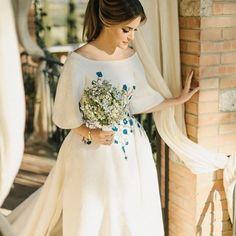 Gabriella + Fernando : Italy — M. Dream Wedding Dresses, Bridal Dresses, Bridesmaid Dresses, Italy Wedding, Wedding Bride, Pretty Dresses, Beautiful Dresses, Yes To The Dress, Mode Vintage