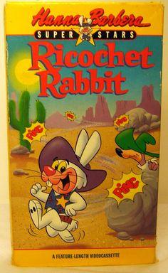 Ricochet Rabbit VHS Hanna Barbera Superstars 1964 Cartoons