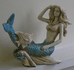 Miniature Mermaid - Style A, Atlantic Coast Decor  Love this!