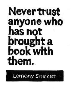 LINOCUT PRINT Lemony Snicket Never Trust Anyone by WordsIGiveBy