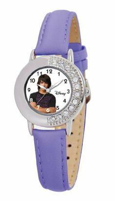 Disney Kids' D656S413 Joe Jonas Purple Leather Strap Watch Disney. $39.99. Water resistant up to 99 feet (30 M). Buckle clasp. Half Rhinestone adorned bezel. Purple leather strap. Disney kids watch