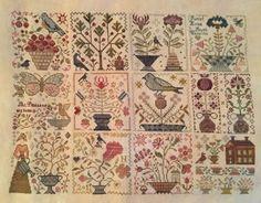 Nicole's Needlework Garden Club Series by Blackbird Designs - 40 ct. Vintage Buttercream and GAST (1 over 2)