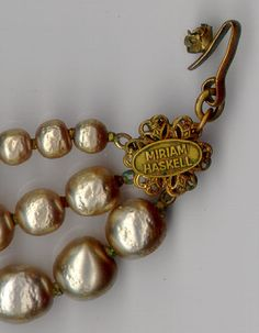 Image detail for -... Miriam Haskell. It consists of a pearl base, with the pearls on stiff