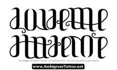 Free Ambigram Tattoos Generator 03 - http://ambigramtattoo.net/free-ambigram-tattoos-generator-03/