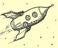 "Here's what happened when 12 random people took turns drawing and describing, starting with the prompt ""Steampunk spaceship"". Rocket Drawing, Spaceship Drawing, Cartoon Spaceship, Space Drawings, Easy Drawings, Steampunk, Drawing Sketches, Drawing Ideas, Ship Paintings"