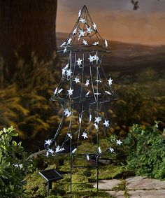 Wind and Weather Solar-Lit Christmas Tree Outdoor Décor | zulily