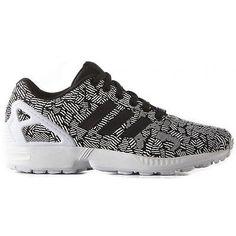 timeless design 966b5 6feb3 ADIDAS scarpe donna sneaker unisex ZX FLUX W S76583 BLACK NERO lacci tessuto