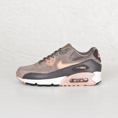 quality design 6041e e2681 Damen Nike Air Max 90 Leather Iron rote Bronze-Sail Tenis Air Max 90