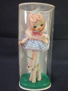 Big Eye Missy the Model Dog Gigi Bradley Type Pose Cloth Doll In Original Sleve #DollswithClothingAccessories