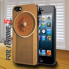 Vintage old Radio retro - design case for iphone 5 | shayutiaccessories - Accessories on ArtFire