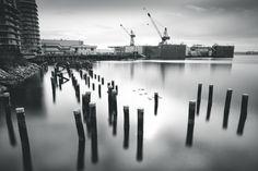 Burrard Dry Dock - 30s exposure of the BDD and surrounding scenery.