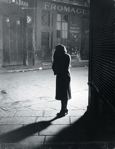 """Brassaï Prostitute at angle of Rue de la Reynie and Rue Quincampoix, from """"Paris by Night"""" 1933"""