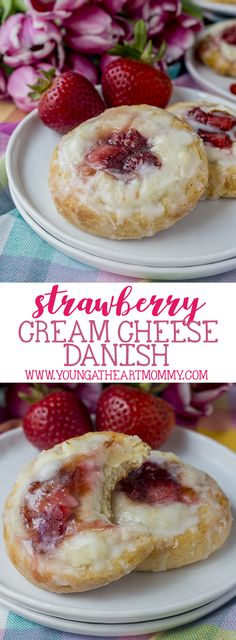 This sweet + simple danish pastry is flaky on the outside, topped with a creamy vanilla bean infused filling and fresh strawberries!