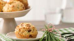 Herzhafte Muffins mit Schinken und Käse Rezept   Sanella