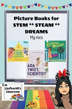 Let's talk picture books for STEM...STEAM...DREAMS...ok whatever acronym you use, it means science, tech and math. Here are some of my favorites. Science Experiments Kids, Science Projects, Math Stem, Stem Steam, Steam Activities, Help Teaching, Teacher Hacks, Music Education, Picture Books
