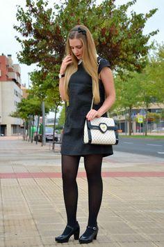 Vestido Missing Johnny, bolso de Tua by Braccialini y zapatos de José Sáenz. Blond, Angel, Street Style, Beauty, Vestidos, Walkway, Zapatos, Urban Style, Street Style Fashion