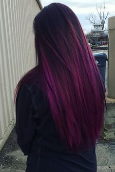 Check out these purple ombre hair styles for a playful look this summer, if you want a color that is bold and electric and looks great in the sunlight. #ad