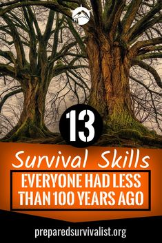 Not to long ago survival skills where the back bone of society. Now we have forgotten even the most basic survival skills that kept us alive all those decades. Which of these survival skills everyone had less than 100 years ago do you still use? Outdoor Survival Gear, Survival Food, Survival Knife, Survival Prepping, Emergency Preparedness, Survival Skills, Survival Hacks, Urban Survival, Emergency Bag