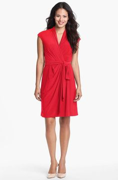 Pretty, red wrap dress.