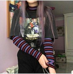 Grunge Outfits – Page 9510796839 – Lady Dress Designs Skater Girl Outfits, Hipster Outfits, Edgy Outfits, Mode Outfits, Retro Outfits, Grunge Outfits, Grunge Fashion, Look Fashion, Vintage Outfits