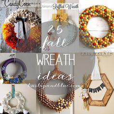 25 fall wreath tutorials by burlap+blue