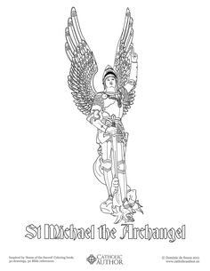 St Michael the Archangel - Free Hand-Drawn Catholic Coloring Pictures