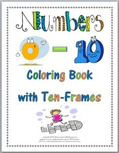 FREE Numbers 0-10 Coloring Book with Ten-Frames