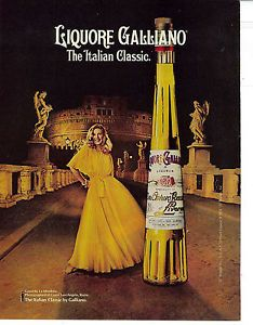 Liquore Galliano Vintage 1978 Print Ad | eBay.  (As a little girl I stared at the dress in this ad for HOURS.  I thought it was the epitome of glamour.)