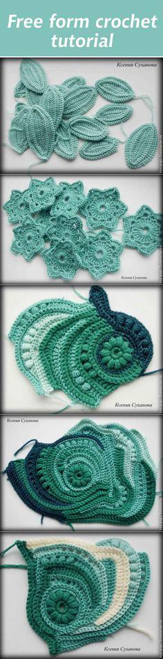 Free form crochet tutorial