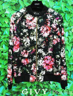 Bom dia Divas!! E para iniciar essa semana fria uma linda jaqueta bomber floral para VC arrasar no inverno!! Corre pra Givy e vem arrasar!! #givyfashion #modaplussize