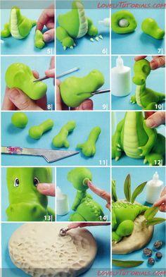 Динозавры,драконы,dragon, Dinosauri, Dinosauři, draci,Les dinosaures, les dragons - Страница 5 - Мастер-классы по украшению тортов Cake Decorating Tutorials (How To's) Tortas Paso a Paso