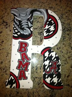 Alabama Crimson Tide Custom Hand Painted Door Hanger/ Wall Art $65.00
