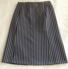 Vintage Late 1960s A Line Skirt in Blue and White by BarbeeVintage, $24.00