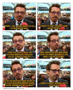 Something tickled your leg? No, that's just Robert Downey Jr.