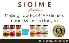 SOME Foods – Making low FODMAP dinners easier (and tastier) for you | A Less Irritable Life