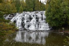 upper pininsula   bond falls is one of the top waterfalls in the u p as judged both by ...