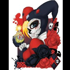 harley quinn sugar skull - Google Search  --Be your own Whyld Girl with a wicked tee today! http://whyldgirl.com/tshirts