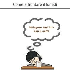 Il nostro manager Che Figo ha stretto amicizia con il #caffè. È un buon modo per affrontare il #lunedì