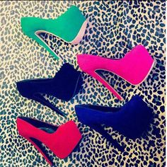 Every girl should own at least 1 pair of heels. I'll take 'em all! High Heel Pumps, Pumps Heels, Platform Stilettos, Platform Shoes, Heeled Boots, Shoe Boots, Cute Heels, Sexy Heels, Beautiful Shoes