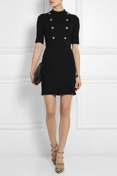 Gucci|Stretch-twill mini dress|NET-A-PORTER.COM