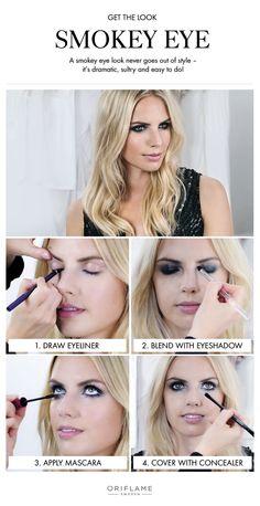 ¿Te parece dificil hacerte un look ahumado? Con este sencillo tutorial y los productos de cosmética de Oriflame, será más que sencillo conseguirlo. ¡Anímate!