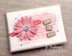 Jo's Stamping Spot - Just Add Ink Challenge using Daisy Delight bundle by Stampin' Up! Hugs, Daisy Delight Stampin' Up, Card Making Templates, Hand Stamped Cards, Beautiful Handmade Cards, Jaba, Scrapbook Supplies, Color Card, Love