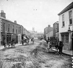 vintage everyday: Amazing Vintage Photos of Street Life of Ireland from the Century.Main Street in Blackrock, Dublin Dublin Street, Dublin City, Vintage Photographs, Vintage Photos, Main Street, Street View, Grafton Street, Images Of Ireland, Kingdom Of Great Britain