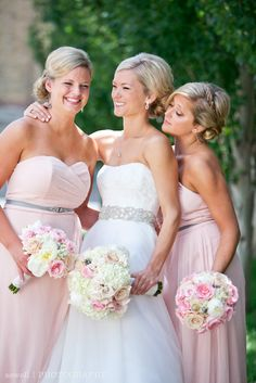 Tessie   Scott- Depot Minneapolis wedding- pink bridesmaids ...
