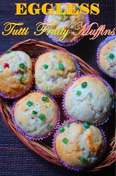 YUMMY TUMMY: Eggless Tutti Frutti Muffins Recipe - Tutti Frutti Muffins Recipe