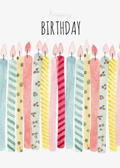 Birthday Quotes : Les bougies d anniversaire Gratuit PNG et Clipart - The Love Quotes Happy Birthday Quotes, Happy Birthday Images, Birthday Pictures, Birthday Fun, Birthday Wishes Greeting Cards, Happy Birthday Greetings, Birthday Messages, Watercolor Birthday Cards, Birthday Candles