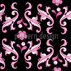 Baroquo Folk Pink by Martina Stadler available as a vector file on patterndesigns.com